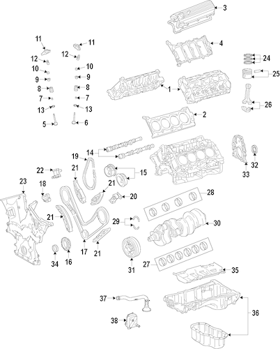 Genuine OEM ENGINE Parts for 2011 Toyota Sequoia Limited