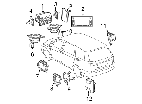 Genuine OEM SOUND SYSTEM Parts for 2005 Toyota Sienna LE
