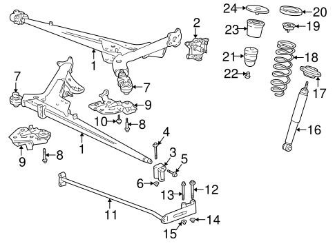 REAR SUSPENSION for 2004 Volvo C70