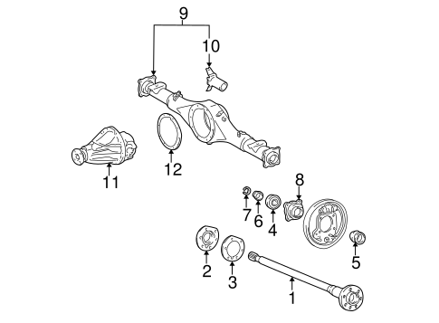 Genuine OEM AXLE & DIFFERENTIAL Parts for 1999 Toyota