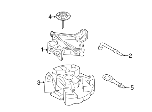 2013-2015 Ford Escape Fusion Front Rear Recovery Towing