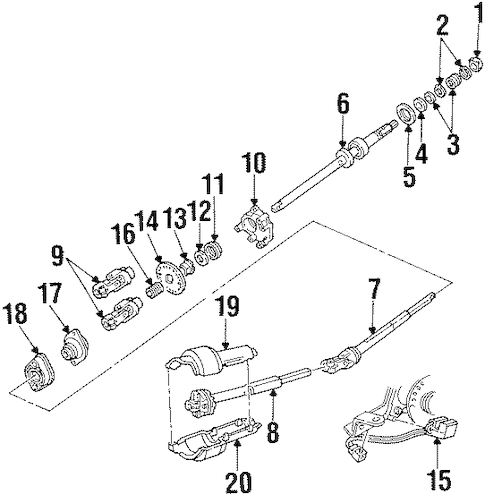 SHAFT & INTERNAL COMPONENTS for 2002 Ford Crown Victoria