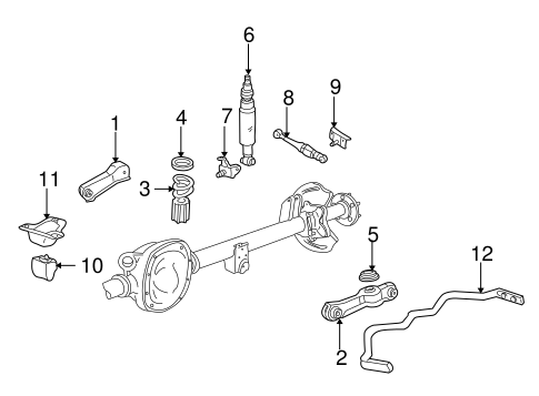 REAR SUSPENSION for 2000 Ford Mustang