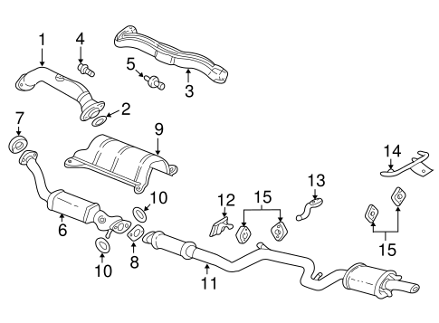 OEM EXHAUST COMPONENTS for 2002 Chevrolet Impala