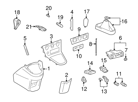 CONTROLS for 2003 Pontiac Vibe (Base)