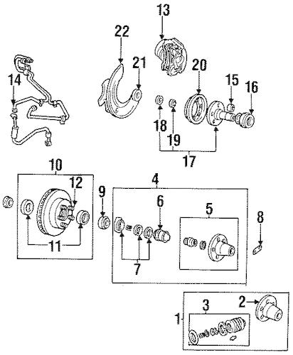 FRONT BRAKES for 1994 Mazda B4000