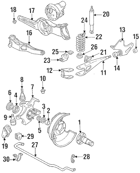SUSPENSION COMPONENTS for 1995 Ford F-150