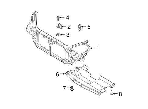 RADIATOR SUPPORT for 2007 Nissan Maxima 62500-ZK30A