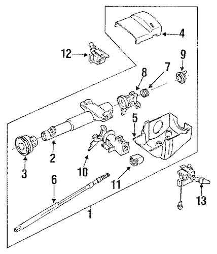 Service manual [1993 Chevrolet Cavalier Tilt Steering