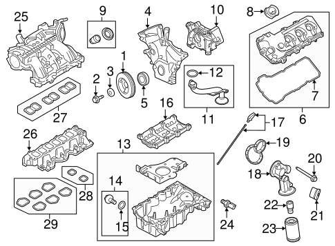 ENGINE PARTS for 2010 Ford Taurus