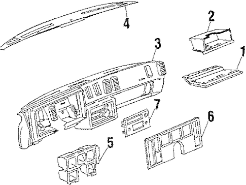 INSTRUMENT PANEL for 1985 Buick Regal (Limited)