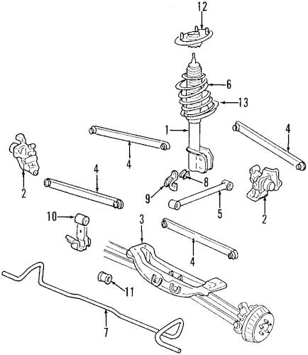 STABILIZER BAR for 1997 Oldsmobile Cutlass Supreme|10288583