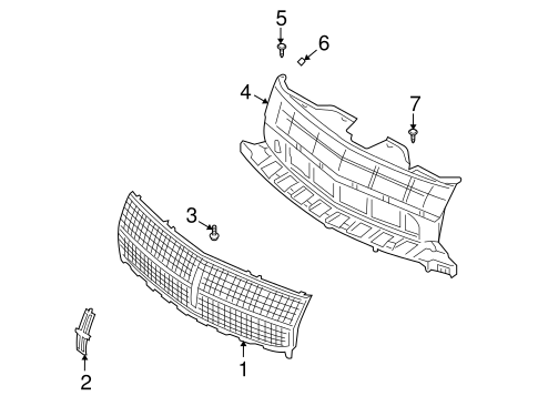 GRILLE & COMPONENTS for 2007 Lincoln MKX