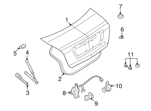 LID & COMPONENTS for 2007 Ford Fusion