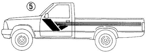 STRIPE TAPE for 1990 Toyota Pickup