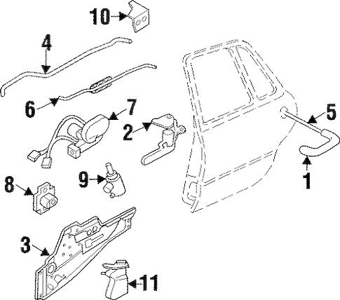 REAR DOOR for 1999 Buick LeSabre (Custom)