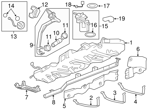 FUEL SYSTEM COMPONENTS for 2012 Chevrolet Traverse