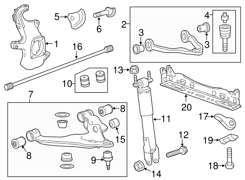 SUSPENSION COMPONENTS for 2015 GMC Sierra 3500 HD