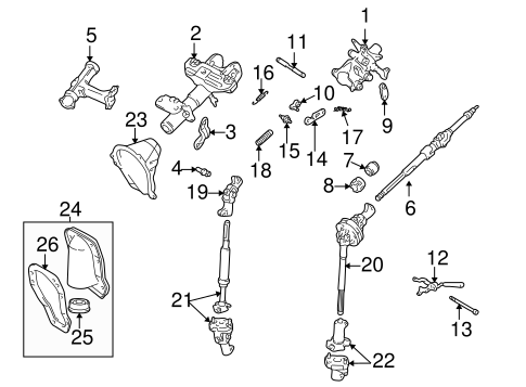 Genuine OEM STEERING COLUMN ASSEMBLY Parts for 1995 Toyota