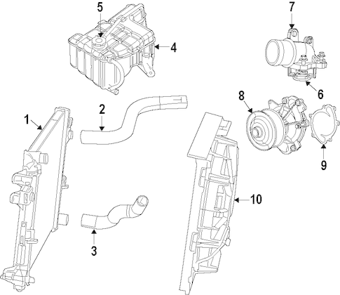 COOLING SYSTEM for 2008 Jeep Grand Cherokee