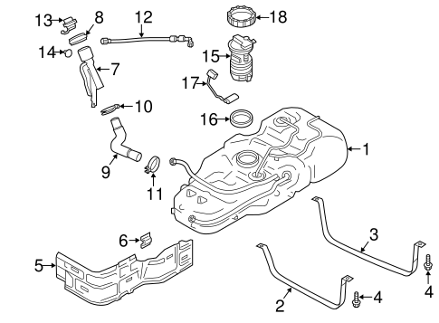 FUEL SYSTEM COMPONENTS for 2015 Chevrolet City Express (LS)