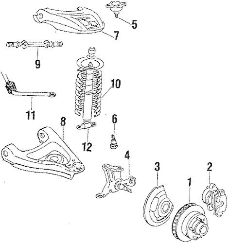 FRONT BRAKES for 1986 Oldsmobile Cutlass Supreme