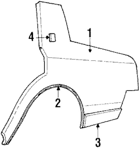 QUARTER PANEL & COMPONENTS Parts for 1985 Oldsmobile