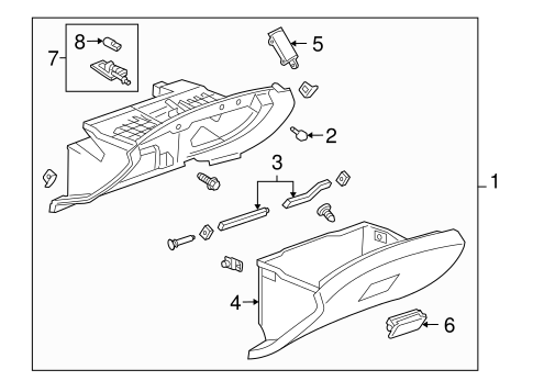 GLOVE BOX Parts for 2011 Chevrolet Cruze