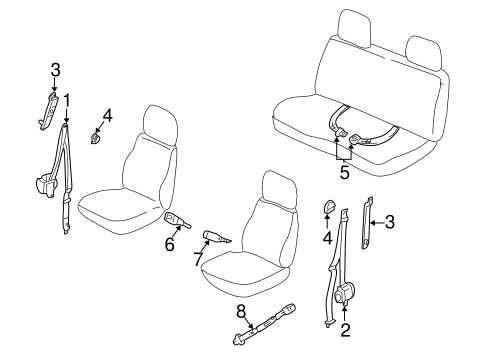 FRONT SEAT BELTS for 2001 Nissan Frontier