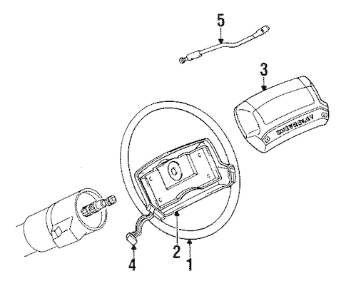 Genuine GM HORN SWITCH (17990636) for GM