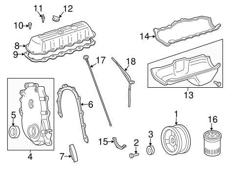 ENGINE PARTS for 1997 Jeep Wrangler