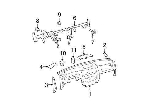 Genuine OEM HEADLAMP COMPONENTS Parts for 2010 Toyota