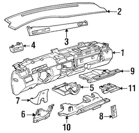INSTRUMENT PANEL Parts for 1998 Cadillac Eldorado