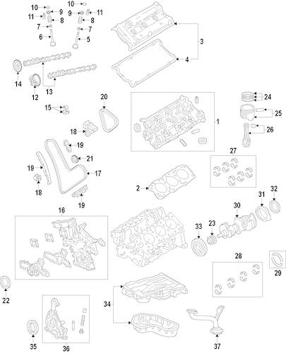 Genuine OEM ENGINE Parts for 2007 Toyota Tacoma Base