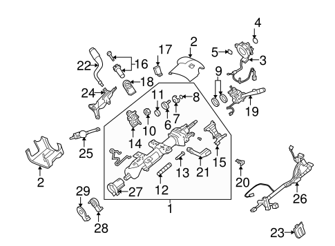STEERING COLUMN ASSEMBLY for 2009 GMC Yukon