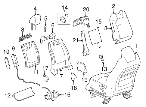 FRONT SEAT COMPONENTS for 2015 GMC Acadia