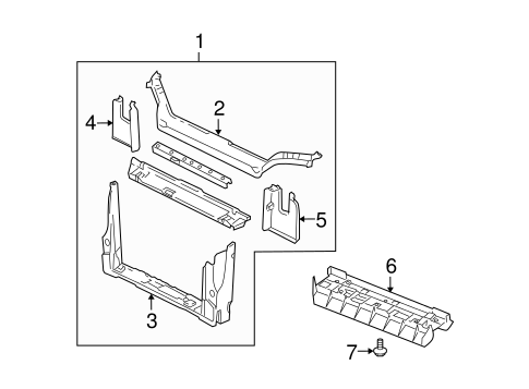 RADIATOR SUPPORT for 2006 Chevrolet Uplander
