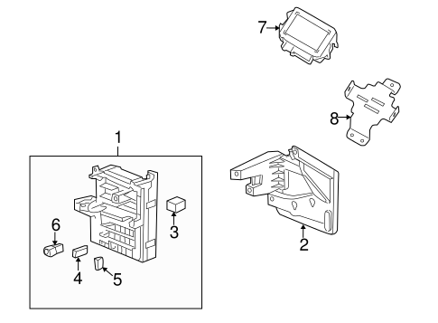 ELECTRICAL COMPONENTS for 2008 Cadillac CTS