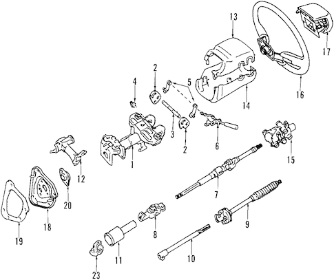 Genuine OEM STEERING COLUMN Parts for 2007 Toyota 4Runner