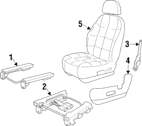 SEATS & TRACK COMPONENTS for 1999 Jeep Cherokee