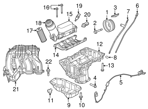 Location Of The Oil Filter On A 2014 Jeep Wrangler