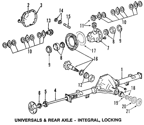 F250 Rear Axle Diagram Ford F-250 Front End Parts Diagram