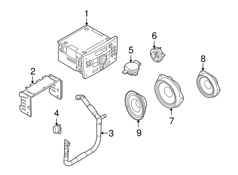 SOUND SYSTEM Parts for 2008 Saturn Astra