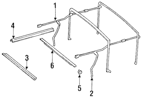 FRAME & COMPONENTS for 1990 Jeep Wrangler