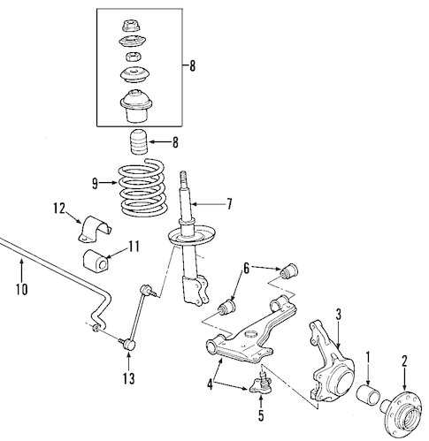 SUSPENSION COMPONENTS for 2002 Saturn L300