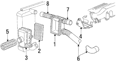 FILTER for 1988 Dodge Daytona