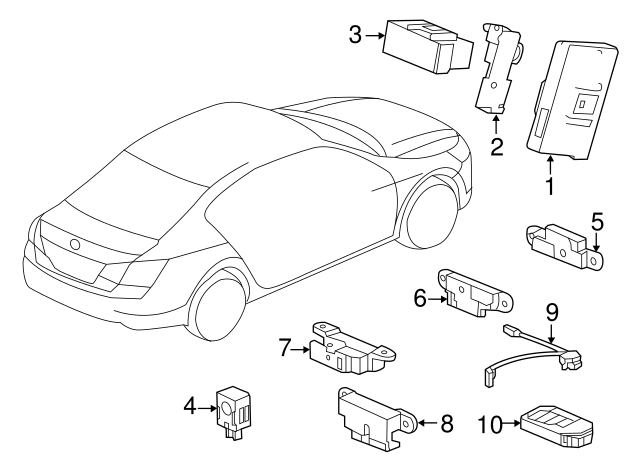 Find Genuine 2013-2016 Honda Antenna 38387-SLE-003