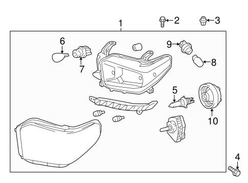HEADLAMP COMPONENTS for 2015 Toyota Tundra
