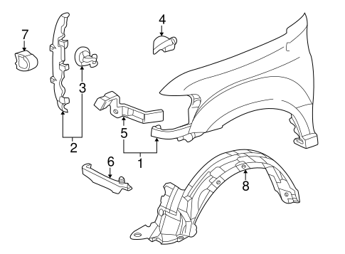 Rear Suspension Parts 2008 Toyota Rav4 3 5l