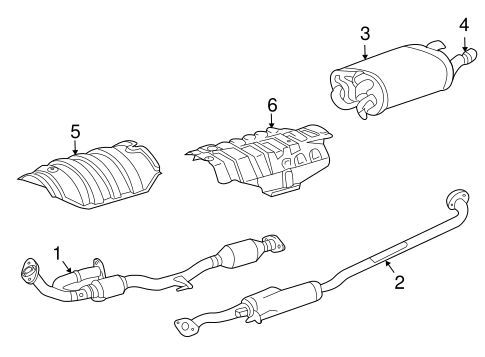 Genuine OEM EXHAUST COMPONENTS Parts for 2006 Toyota